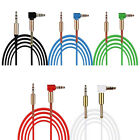 3.5mm Male to Male Car Aux Auxiliary Cord Right Angle Audio Cable For Phone Lot