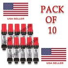 5/10-Pack Leak Proof 0.5ml Oil Cartridge Dual Coil Glass Tank Extract - USA