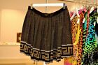 NWT Versace H&M HM Black Gold Silver Studded Studs Silk Skirt Jessica Alba