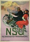 NSU MOTORCYCLING VINTAGE RETRO ADVERTISEMENT METAL TIN SIGN POSTER WALL PLAQUE
