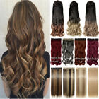 100% Real Thick Clip In Hair Extensions Full Head Hair Extentions Ombre Long fo2