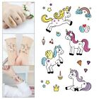 Cartoon Unicorn Temporary Tattoo 75x120mm Animal Kids Party Bag Fillers