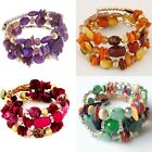 Woman Beach Jewelry Bohemian Shell stone Bracelet Multilayer Beads Strand