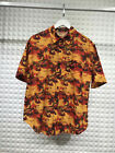 Oversize Mens Hawaiian Beach Printed Short Sleeve Casual Shirts Streetwear