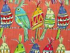 RICHLOOM SITTING PRETTY BIRDS COTTON UPHOLSTERY FABRIC BTY $17.99/YD 10136CP