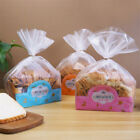 100Pcs/Set Transparent Bread Bag Frosted Plastic Package Home Party Gift Decor