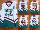 White Mighty Ducks Hockey Jersey Movie D5 Banks Conway Reed Goldberg Custom New