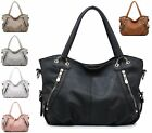 Ladies Womens New Large Fashion Holdall Leather style Tote Shoulder Handbag