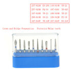 10Pc/Kit AZDENT Dental Diamond Burs Composite/Polishing For High Speed Handpiece