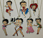 BETTY BOOP ENAMEL NECKLACE EARRINGS & KEYRING GREAT CHOICE FAST UK DELIVERY £3.99 GBP on eBay