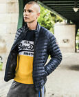 New Mens Superdry Mens Core Down Jacket Navy