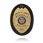 BOSTON LEATHER BOSTON - OVAL CLIP-ON BADGE HOLDER SWIVEL W/ VELCRO