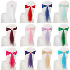 10 Pcs Spandex Stretch Tie Chair Band Sash Bow Wedding Party Cover Banquet Decor