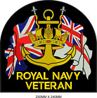 ROYAL NAVY VETERAN Large Embroidered Biker Patch