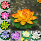 18cm Artificial Lotus Floating Water Lily Flowers Plants Home Decors Pond ZSUS