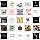 Funny Words Horse Polyester Throw Pillow Case Sofa Waist Cushion Cover Home Deco