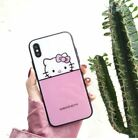 Hello Kitty Case For iPhone X 8 7 6 S Plus HD Tempered Glass Film Back Cover