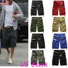 US Mens Military Combat Camo Cargo Shorts Pants Work Casual Short Army Trouser 1