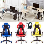 New High Back Racing Car Gaming Chair+L-Shape Corner Computer Desk+708GT headset