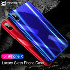 CAFELE Luxury Ultra thin Tempered Glass Phone Case Cover Skin for Apple iPhone X