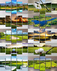 Golf Course Painting 5pc Canvas Print Ball Golf Poster Wall Art Frame Home Decor