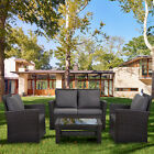 5 Pc Upgrade Garden Outdoor Wood Table And Chairs-4 Seater Folding Dining Set