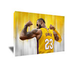 Los Angeles Lakers LEBRON JAMES Poster Photo Painting Artwork on CANVAS Wall Art on eBay