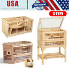 3-Type Wooden Hamster Pet Cage House Rodent Mouse Small Animal Wood Layers US