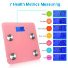 Digital Smart LCD Body Fat Scale Weight Bone Muscle BMI Measure Tempered Glass