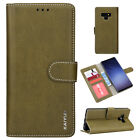 For Samsung Galaxy Note 9 Magnetic Wallet Retro Leather Flip Stand Case Cover