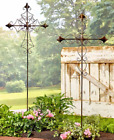 Outdoor Garden Stakes Tall Cross Metal Religious Yard Decorations Faith Gifts 4F