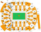 2 Lower Level Tennessee Volunteers Season Football Tickets UT Vols