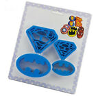 4 piece set DIY baking Batman and Superman plastic cookie mold fondant cutting H