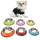 stainless steel dog bowls pet food water feeder for cat puppy dog feeder N GY