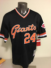 Willie Mays San Francisco Giants 24 Black Pullover Throwback Baseball Jersey