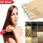skin weft hair extensions - Blue Tape in Grade 7A 100% Remy Human Hair Extensions EP 20/40/60pcs Skin Weft