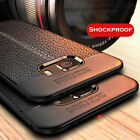 For Samsung Galaxy A3 A5 A7 2017 Shockproof Rubber Leather Slim Back Case Cover