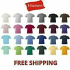 Hanes Tagless Short Sleeve 6oz Comfort Cotton T-Shirt S-5XL 5250 Plain Blank Tee image