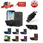Hybrid ShockProof Kickstand Dual Layer Case Cover For Samsung Galaxy S6 SM-G920