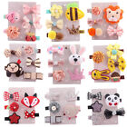 Внешний вид - 5Pc Kids Girl Toddler Hairpin Baby Girls Cute Cartoon Animal Motifs Hair Clip