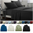 Full Size Bed Sheet Set Soft Comfort 4 Piece Deep Pocket Flat Fitted Microfiber image