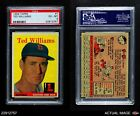 1958 Topps #1 Ted Williams Red Sox PSA 6 - EX/MT