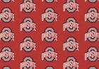 Ohio State University Buckeyes Rug Logo Repeat Mat