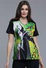 Maleficent Cherokee Scrubs Tooniforms Disney V Neck Top TF694 VIMA