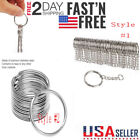 Kyпить 50-200PCS Lot Key Rings Chains Split Ring Hoop Metal Loop Steel Accessory 25MM A на еВаy.соm