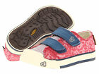 NWOB Keen Kids Sula Ensign Blue Pink Canvas Shoes Size 10 11