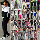 2Pcs Women's Tracksuit Hoodie Sweatshirt Tops Pants Set Fitness Sports Gym Suit