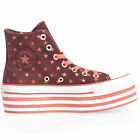 Converse Womens Trainers Hi Lo Top Canvas Leather Lace Up Strap Platform Size