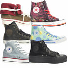 Converse Adults Womens Hi Top Trainers Canvas Leather Colour Size Rubber Sole