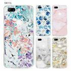 Marble tiles stone painting TPU Ultra Thin Transparent Soft Case Cover for One P